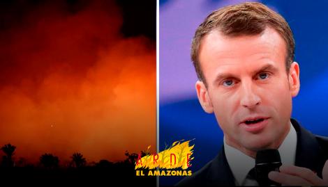 Alarma mundial por incendios en el Amazonas: Macron pidió tratar medidas de emergencia en el G7