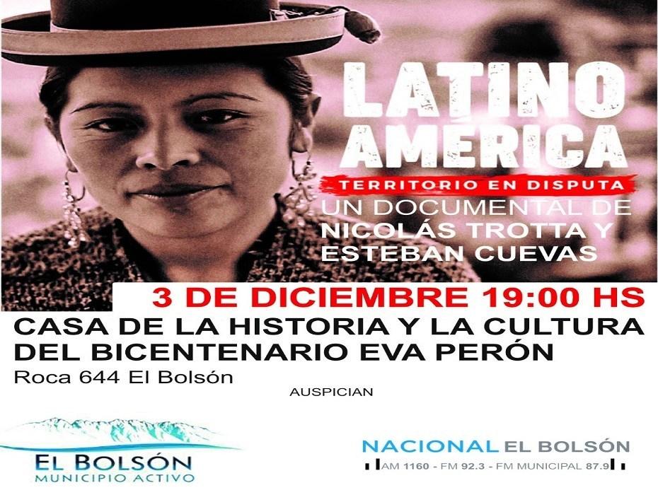 Bolsón: exhiben «Latinoamerica, territorio de disputa»
