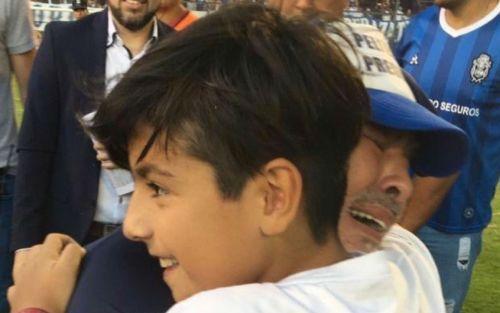 FOTOS | Diego Maradona y Benjamín Agüero emocionaron las redes