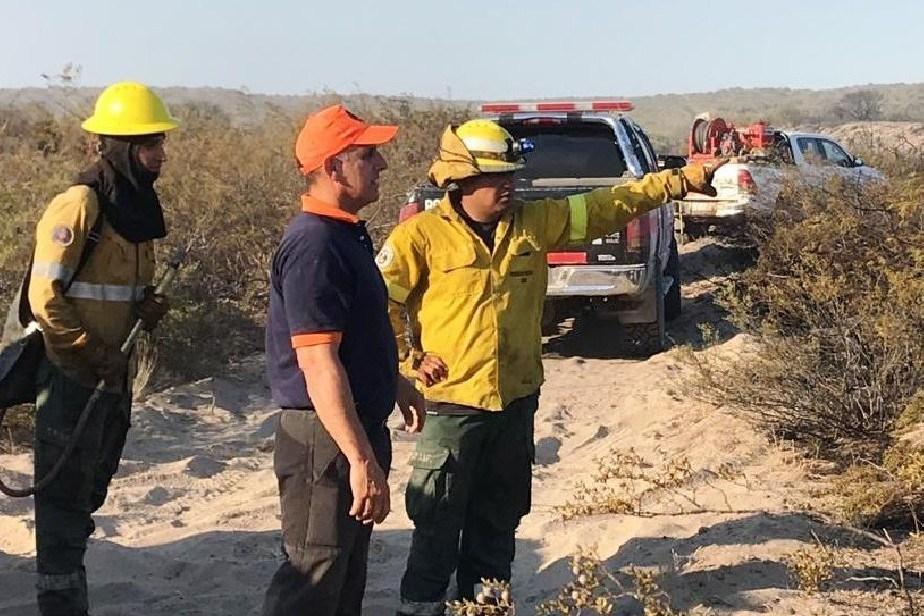 Está controlado el incendio en cercanías de Las Grutas