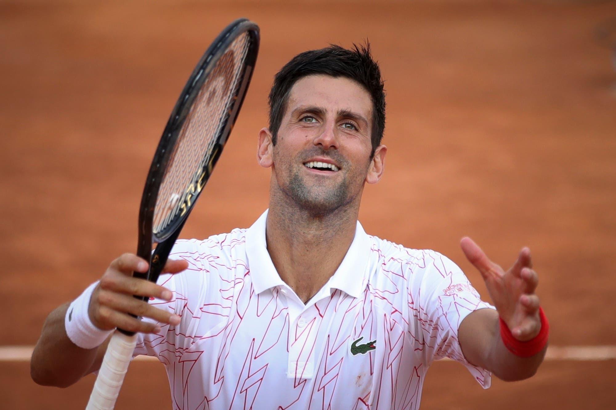 Novak Djokovic, finalista del Masters 1000 de Roma: venció a Casper Ruud y va por su quinto título en el torneo