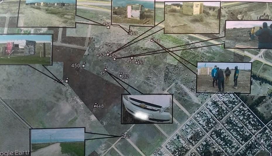 Tres imputados por usurpación de terrenos privados en Viedma