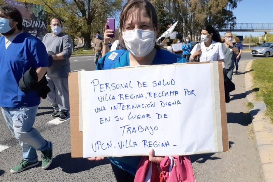 Video: manifestación por la muerte de la enfermera con coronavirus de Regina