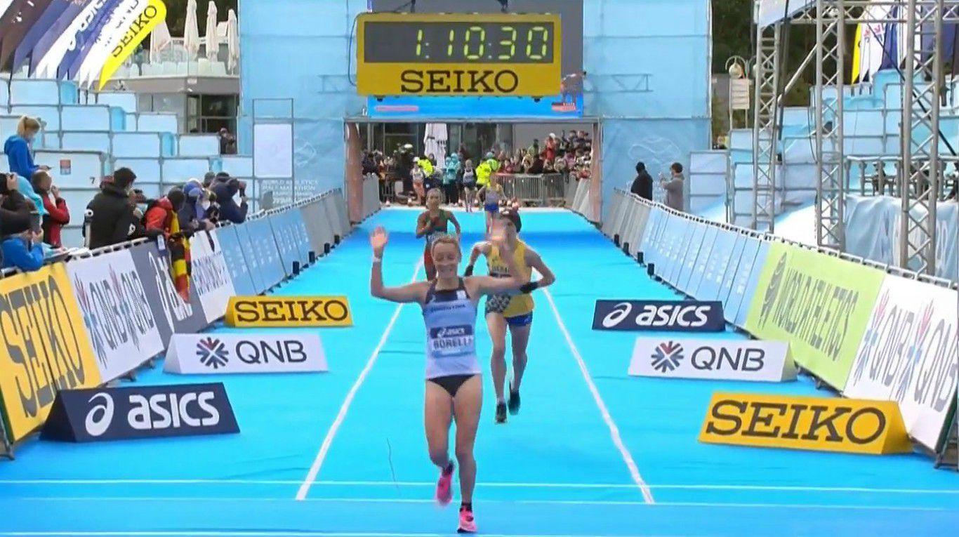 Gloriosa actuación de Florencia Borelli, la mejor sudamericana de la Media Maratón de Polonia