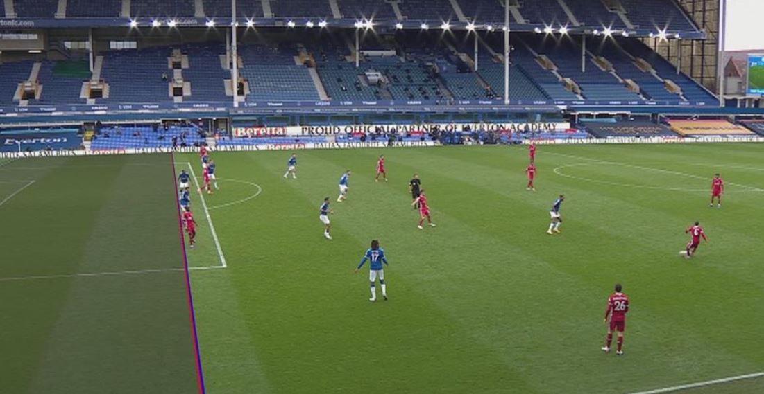 El VAR le arruinó el día al Liverpool: el insólito gol que anularon en el clásico con Everton