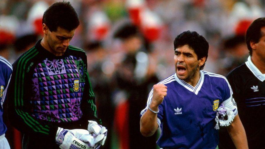 """Maradona """"había amanecido mal"""", contó Goycochea"""