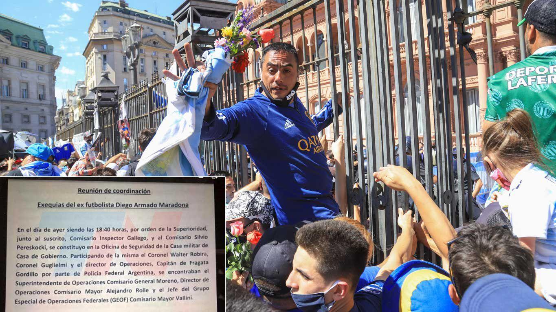 La muerte de Diego Maradona | Un documento prueba que el Gobierno dio la orden que desató el caos en el velorio de Maradona