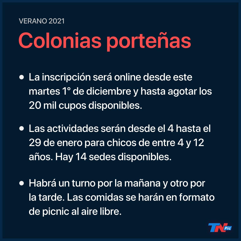 Verano 2021 | Se abre la inscripción de colonias de vacaciones en la Ciudad de Buenos Aires: todo lo que hay que saber