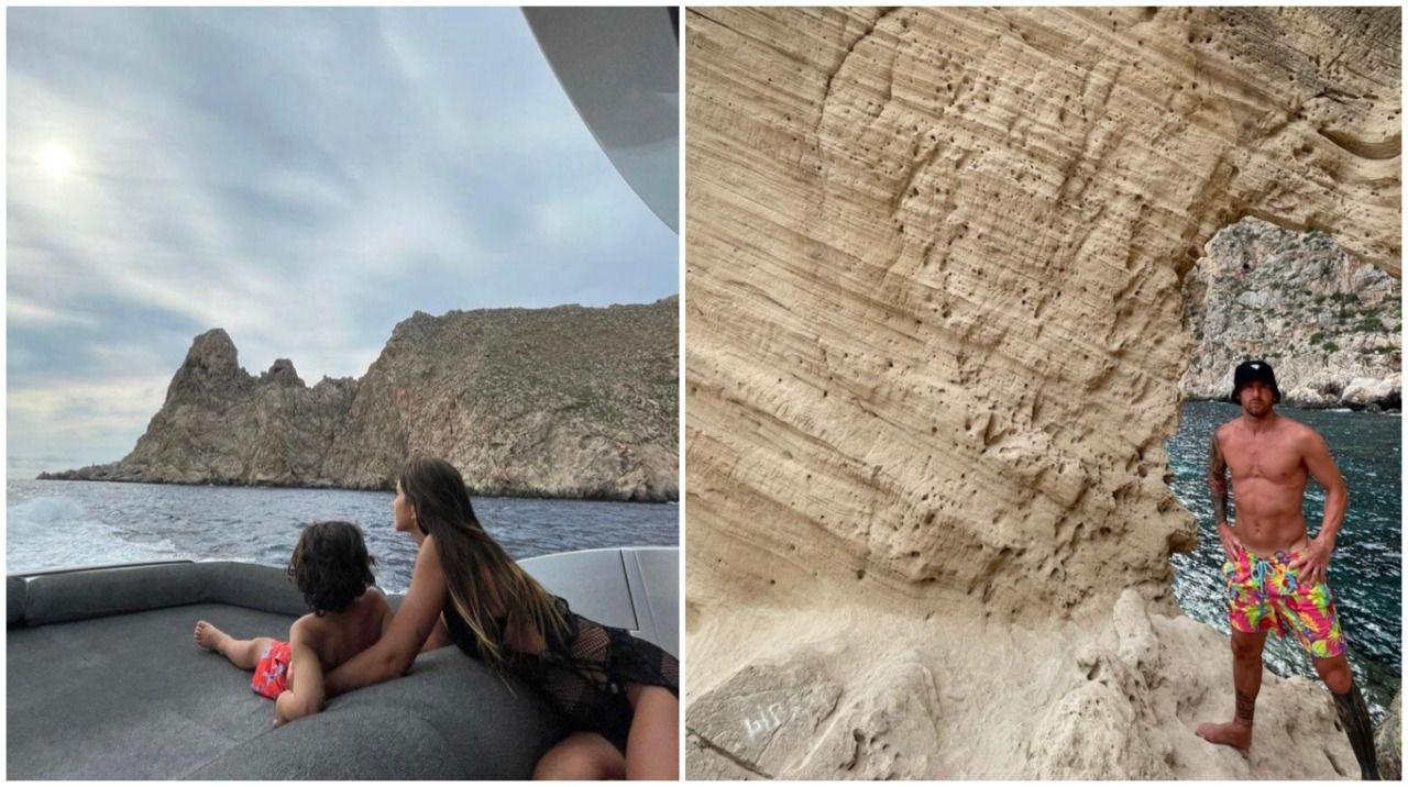 entre-las-rocas-y-el-mar:-las-fotos-de-lionel-messi-y-antonela-roccuzzo,-que-siguen-disfrutando-del-sol-de-ibiza